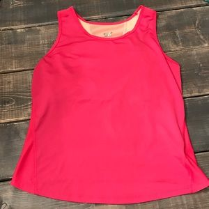 Hot Pink Tank Top, by Tail (M) built in full bra
